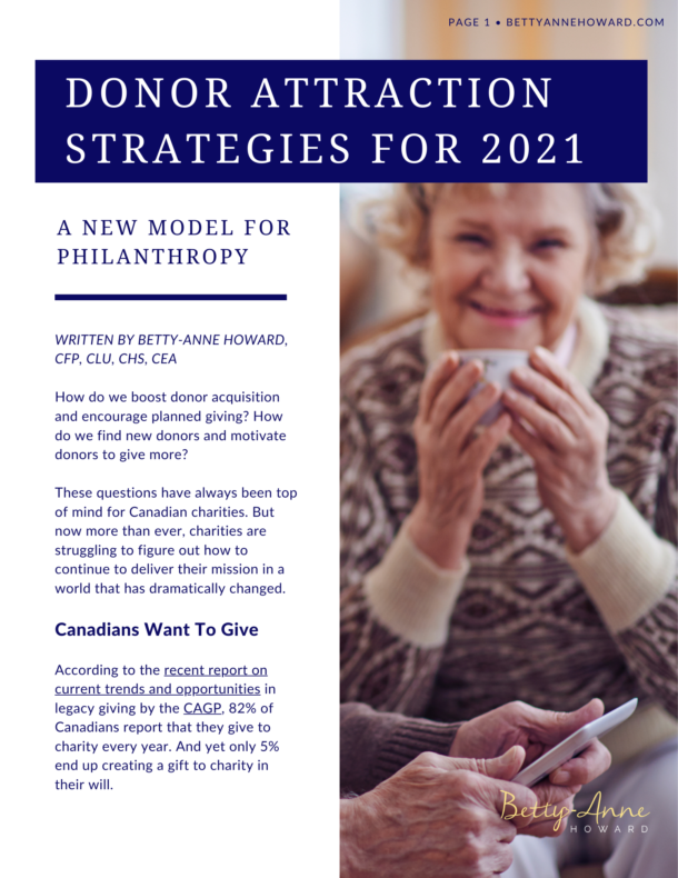 Donor Attraction Strategies for 2021